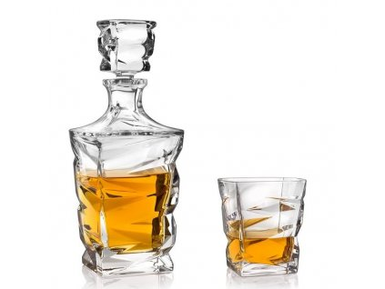 crystal bohemia zig zag whisky set