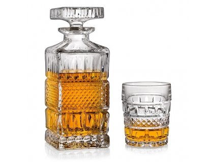 whisky set crystal bohemia brittany