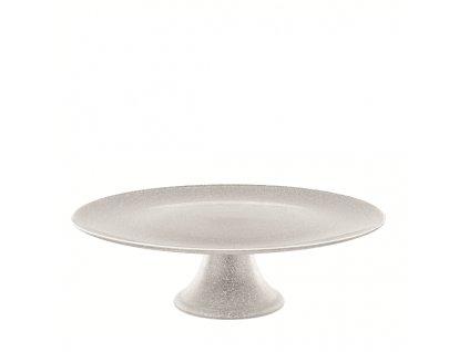 Luigi Bormioli Glitter stříbrný podnos na dort
