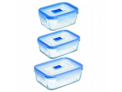 Luminarc Pure box obdélníkové dózy set 3 ks
