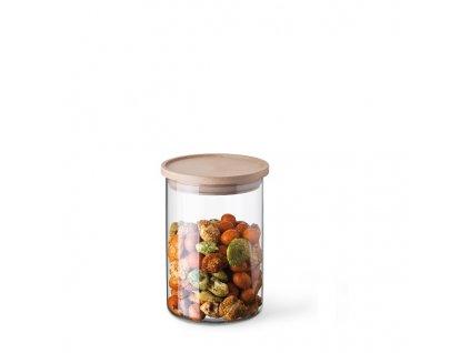 Simax dóza na potraviny s dřevěným víčkem 0,8 l