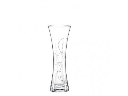 Crystalex malá dekorovaná váza LOVE1