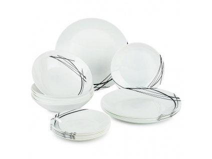 Luminarc jídelní souprava talířů Domitille 18 dílná