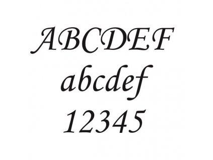 MONOTYPE pískování textu