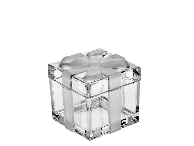 Crystal Bohemia Skleněná dóza MAŠLE 115 mm