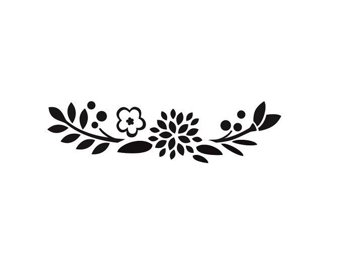 Květy pískování motivu