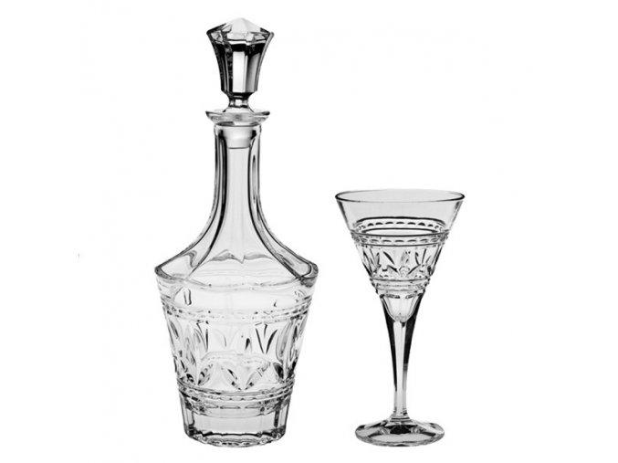 crystal bohemia tulip wine set (1+6)