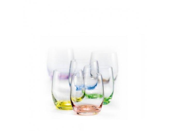 Crystalex Barevné skleničky Club Rainbow 300 ml