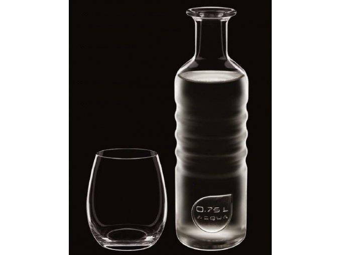 Luigi Bormioli Hydrosommelier set láhev na vodu a sklenice (1+6)
