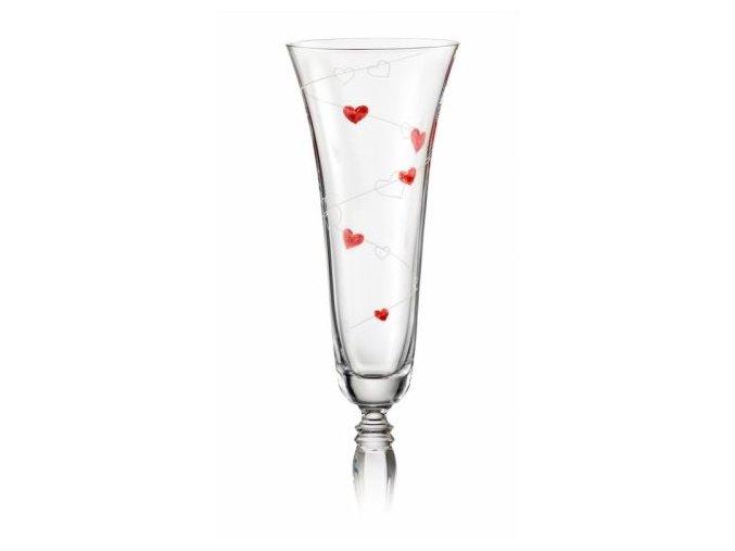 Crystalex Sklenice na šumivé víno Victoria 3LOVE 180 ml