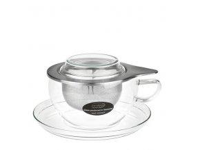 Trendglas JENA Skleněný šálek se sítkem TEA TIME 300 ml, 1 ks