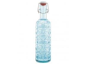luigi bormioli skleněná láhev s uzávěrem modrá