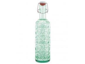 luigi bormioli skleněná láhev s uzávěrem zelená
