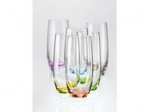 Crystalex Barevné sklenice Club rainbow 350 ml