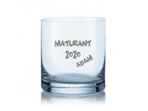 Maturitní sklenička na whisky 280 ml se jménem