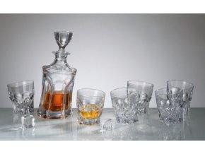 Crystalite Bohemia Acapulco whisky set (1+6)