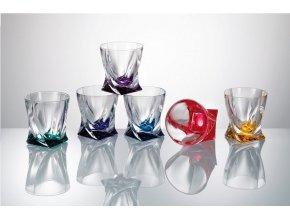 Crystalite Bohemia Barevné sklenice Quadro 340 ml