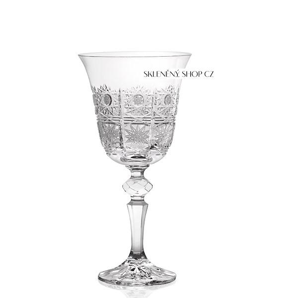 Levně Aurum Crystal Broušené sklenice na víno LAURA 220 ml, 6 ks
