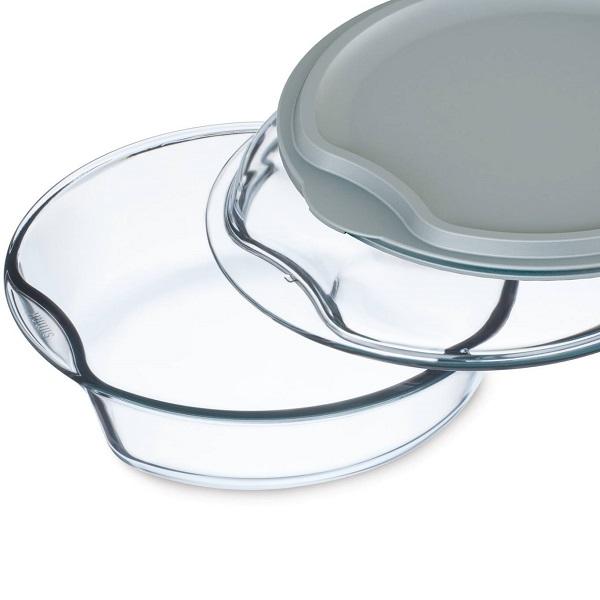 Levně Simax Pekáč kulatý se skleněným a plastovým víkem 2,5 l