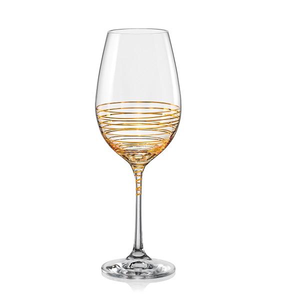 Crystalex Sklenice na víno VIOLA SPIRAL 350 ML, 2 ks