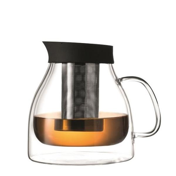 Leonardo Čajová konvice DUO 1,3 l + Zelený čaj Bancha Arashiyama 40 g