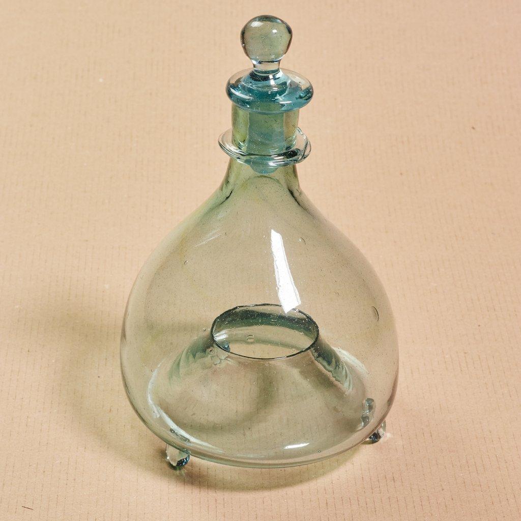 Sklený muchár - ľudové sklo - ručne tvarované - sklený sen