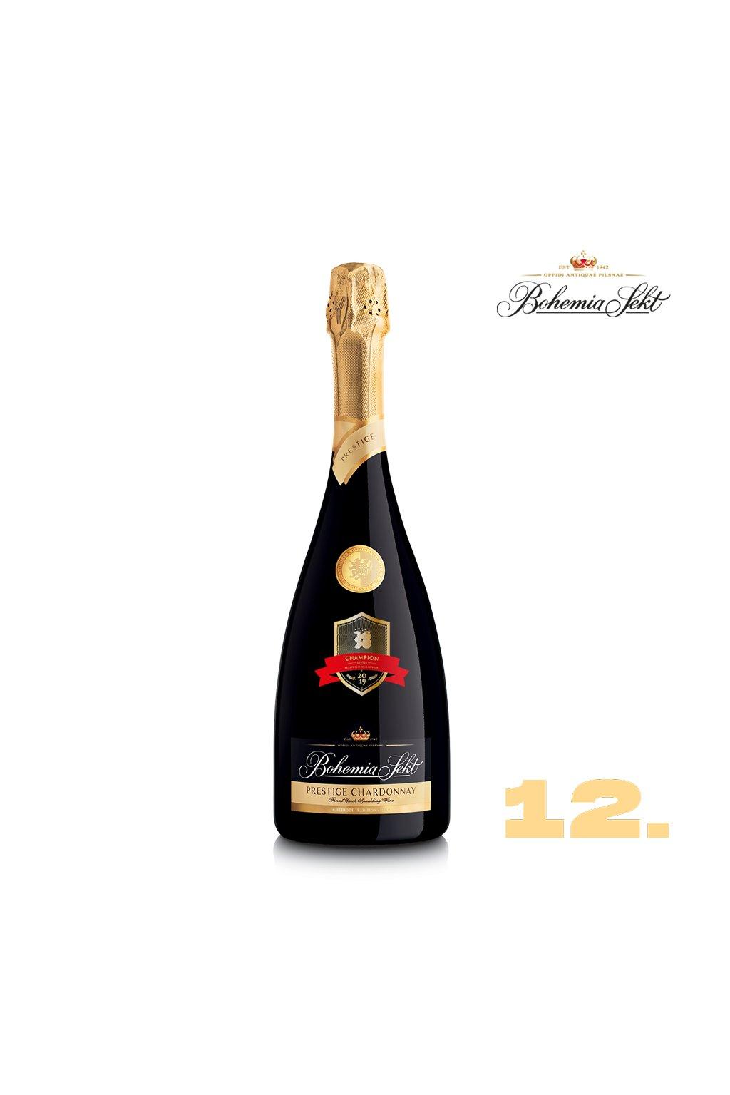 12 Bohemia Sekt Prestige Chardonnay brut