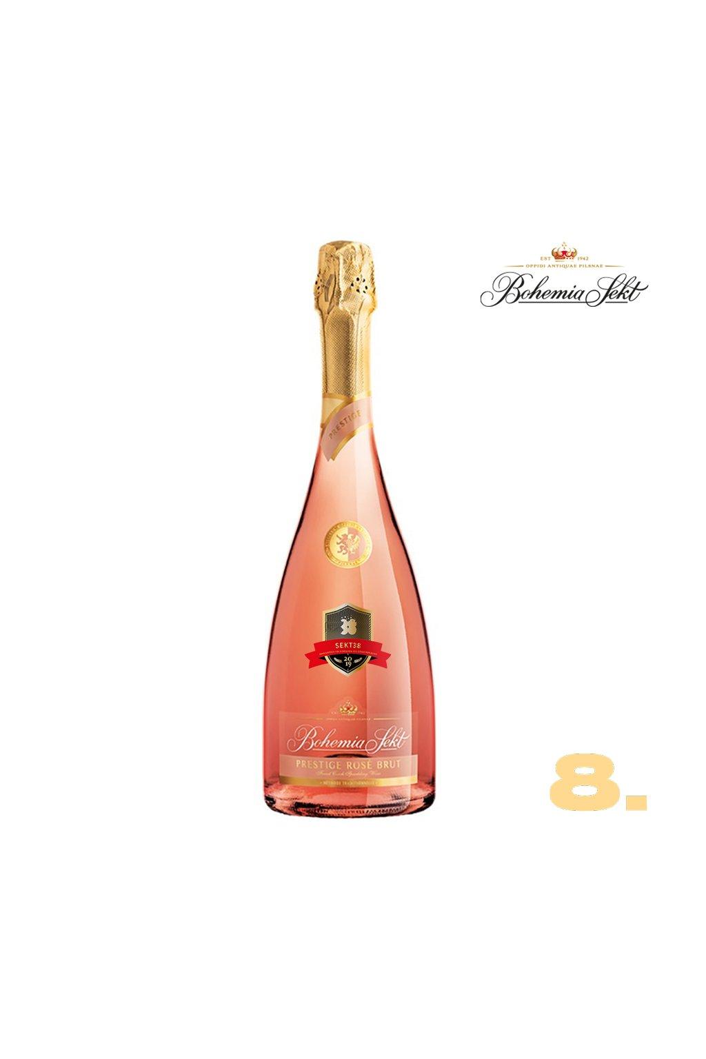8 Bohemia Sekt Prestige rosé brut