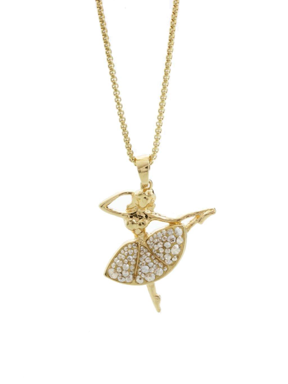Náhrdelník Baletka s kameny Swarovski® Gold