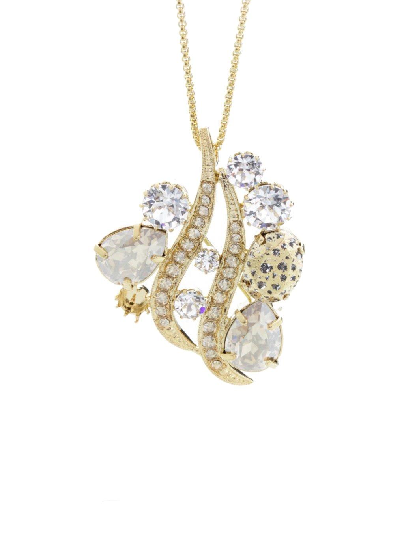 Náhrdelník Crystal Wave s kameny Swarovski® Gold