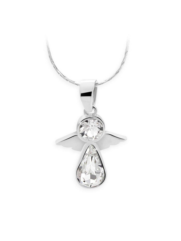 J61300452CR Náhrdelník Andílek s kameny Swarovski® Crystal