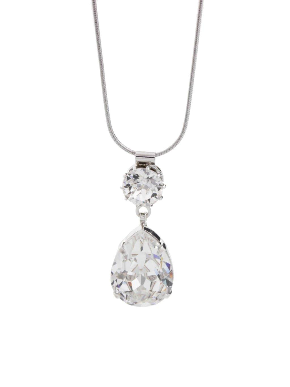 V Sw nh kapka,šaton J61300465CR Náhrdelník Drop s kameny Swarovski® Crystal