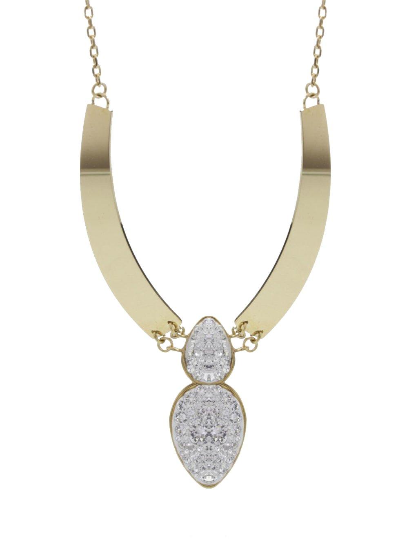 J61300471G Náhrdelník Amulet s kameny Swarovski® Gold