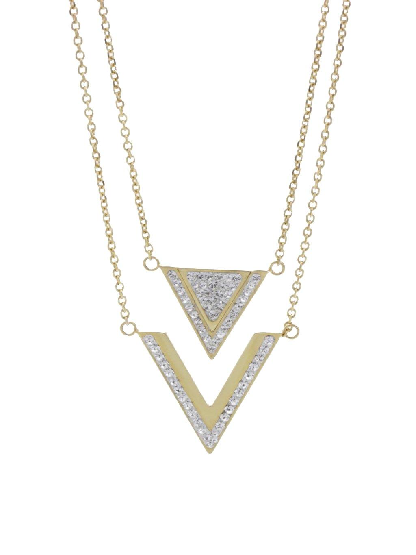 61300477g Ocelový náhrdelník Triple s kameny Swarovski® Gold