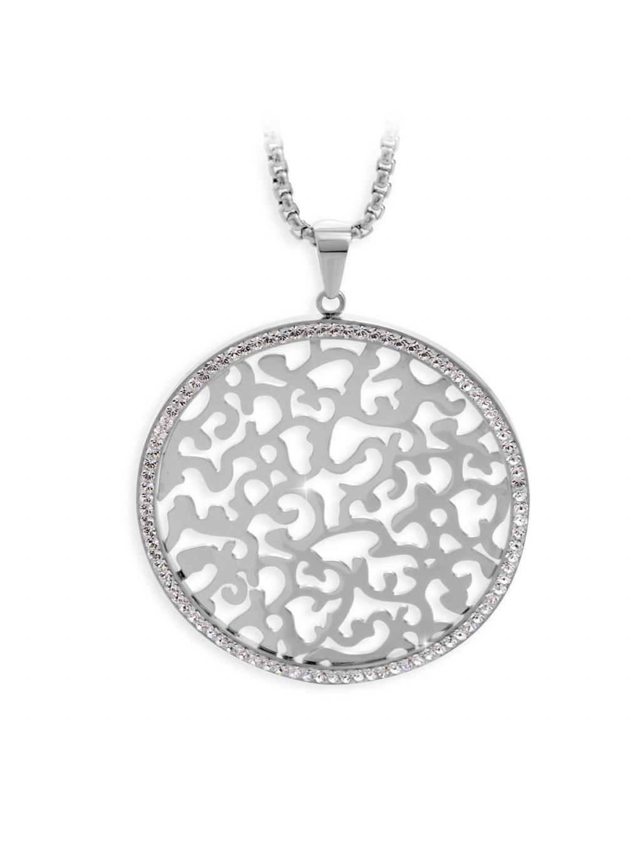 J61300479CR Ocelový náhrdelník Ornament s kameny Swarovski® Crystal