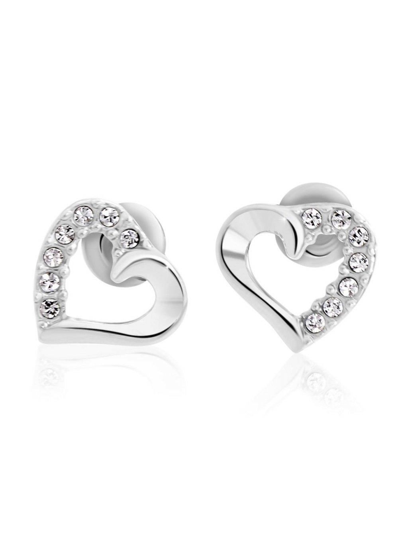 Náušnice Srdíčka mini s kameny Swarovski® Crystal