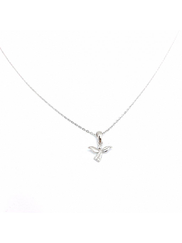 J92300435crStříbrný náhrdelník Andílek mini se zirkony