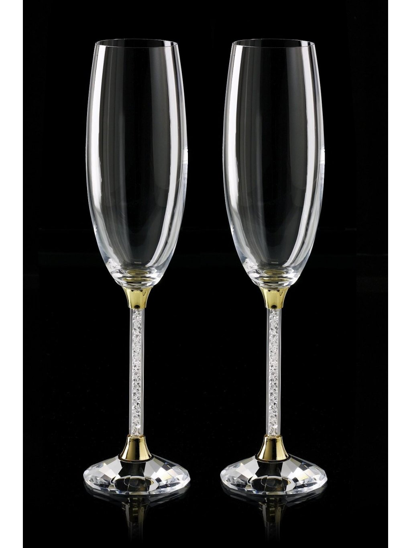kristalove sklenice sekt