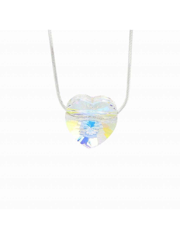 Stříbrný řetízek s přívěskem Srdce I. Swarovski® components