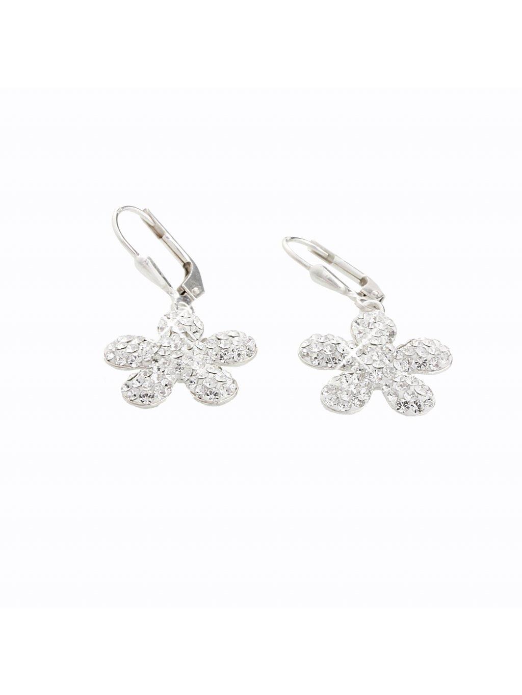 Stříbrné náušnice Květ I. Swarovski® components