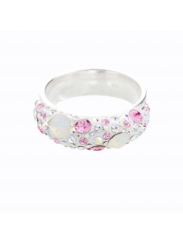 Stříbrný prsten s křišťálky Swarovski® components I.