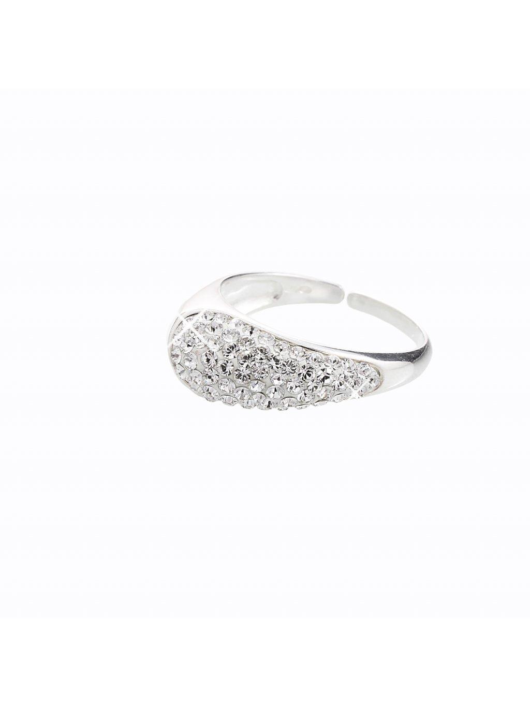 Stříbrný prsten s křišťálky Swarovski® components III.