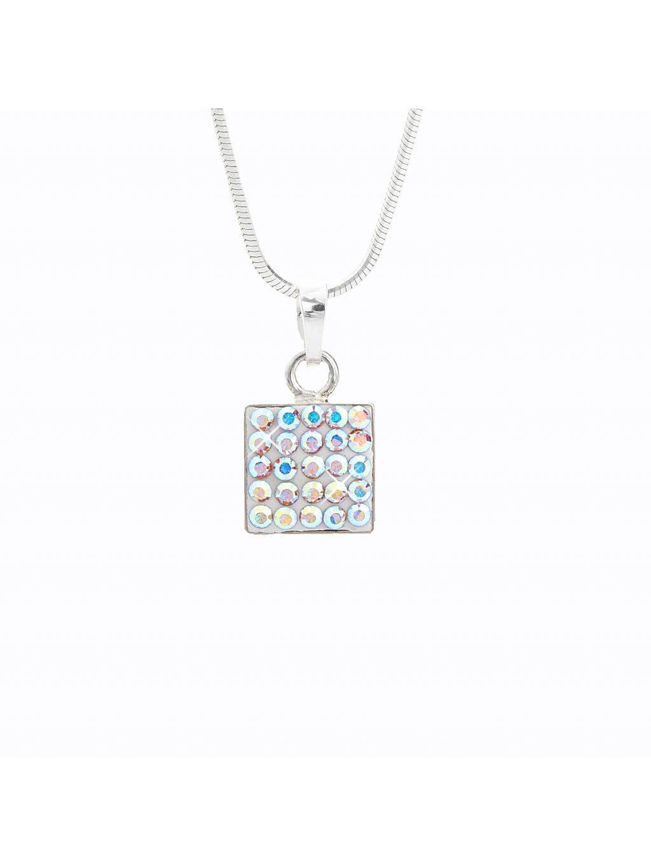 J92300021AB Náhrdelník stříbrný Square II. Swarovski® components