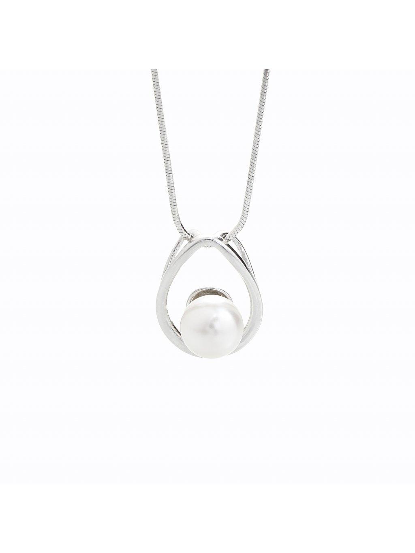 Stříbrný řetízek s perlou Swarovski® components II.