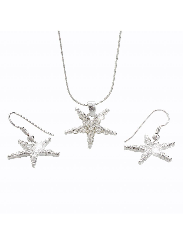 Souprava s kameny Swarovski®  - náušnice, náhrdelník