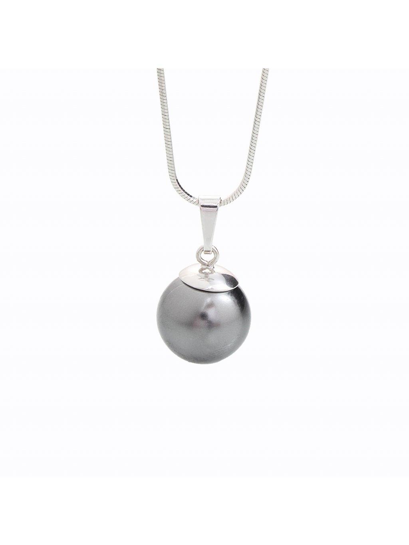 Stříbrný řetízek s perlou Swarovski® components IV.