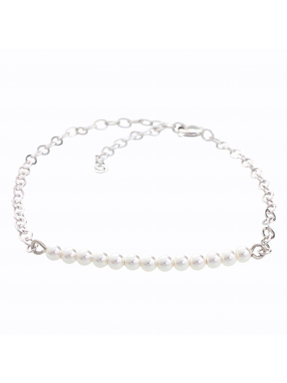 Stříbrný náramek s perličkami Swarovski® components I.