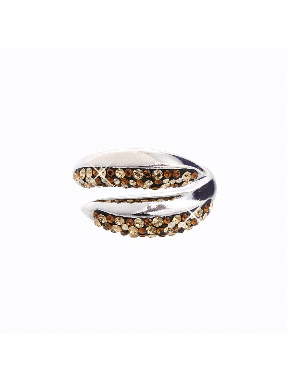 J92700031GOLD Stříbrný prsten Swarovski® components I.
