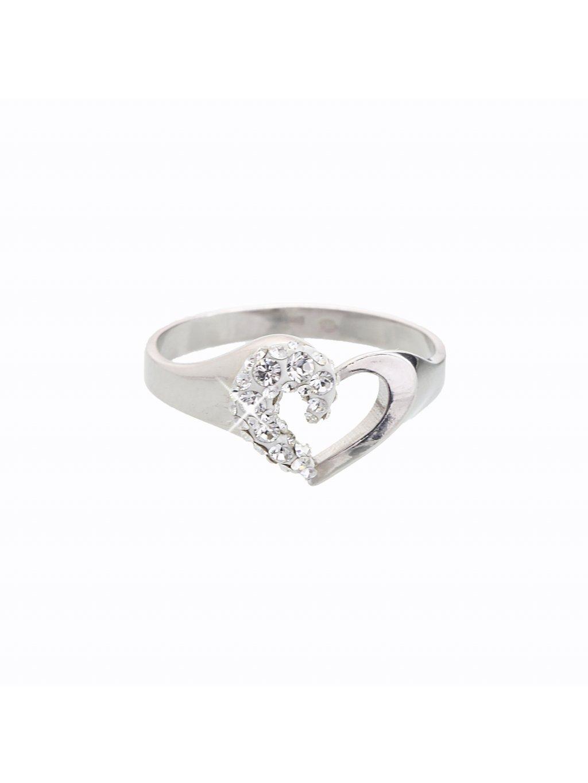 J92700059CR Stříbrný prstýnek srdíčko Swarovski® components