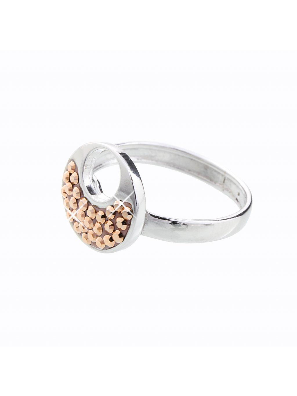 J92700085RG Stříbrný prstýnek Swarovski® components XII.